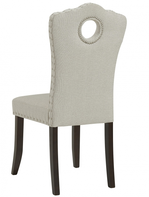 Elise Side Chair in Walnut/Beige, 2pk