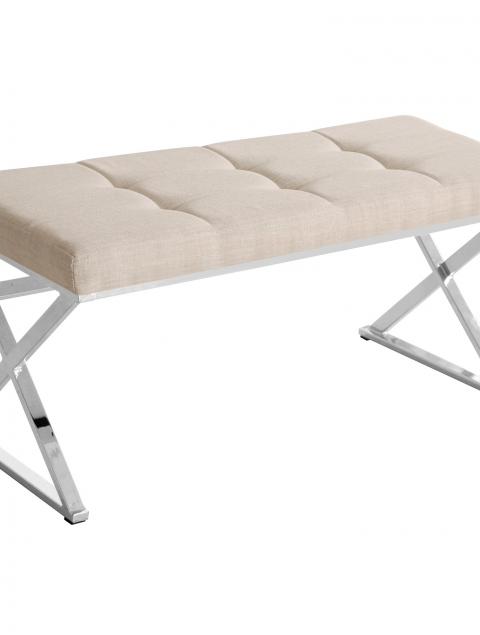 Vapor Double Bench in Natural Linen