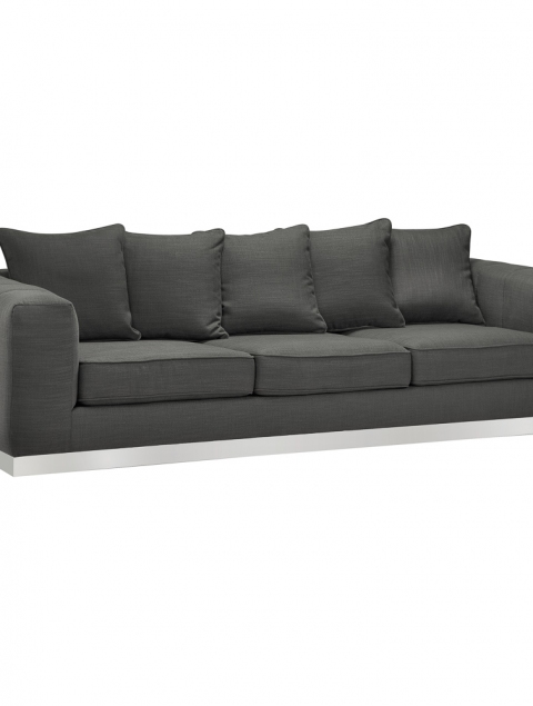 Burlington Grey Linen Sofa
