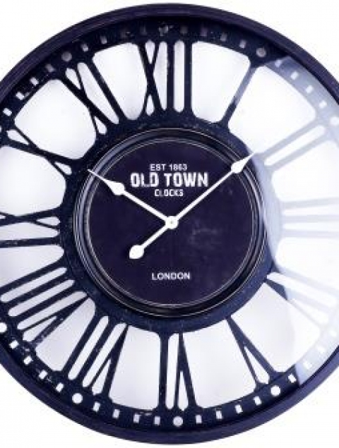 31.5X31.5 OLD TOWN LONDON (GLASS AND METAL CLOCK)