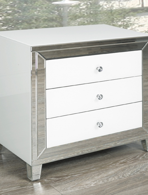 White Mirror Side Table GY-WHT002